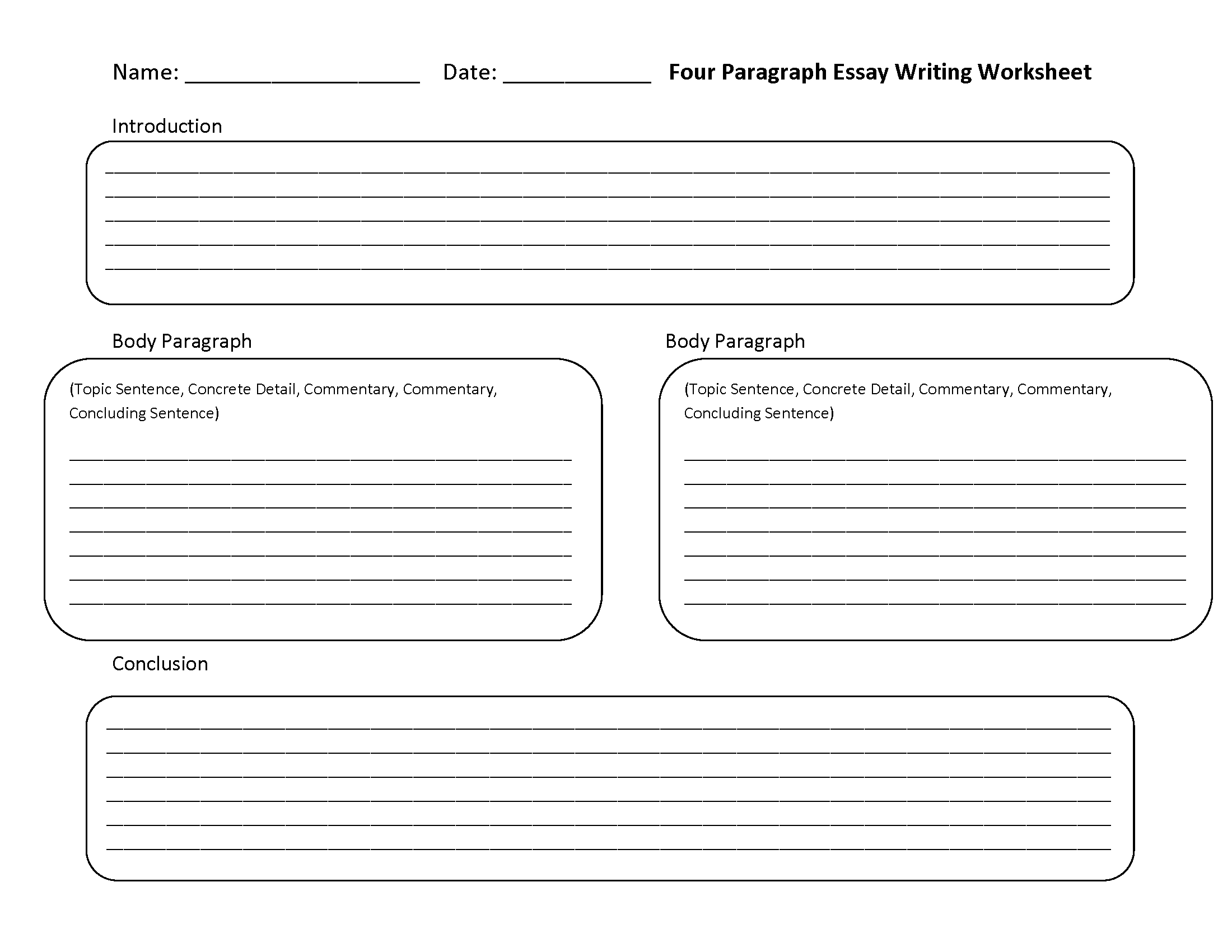Descriptive Writing Worksheets For High School