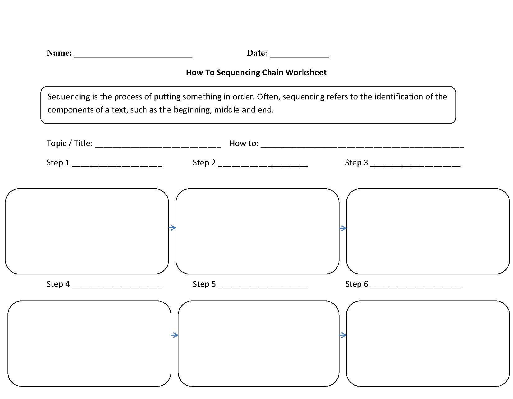 Printable 2nd Grade Sequencing Worksheet