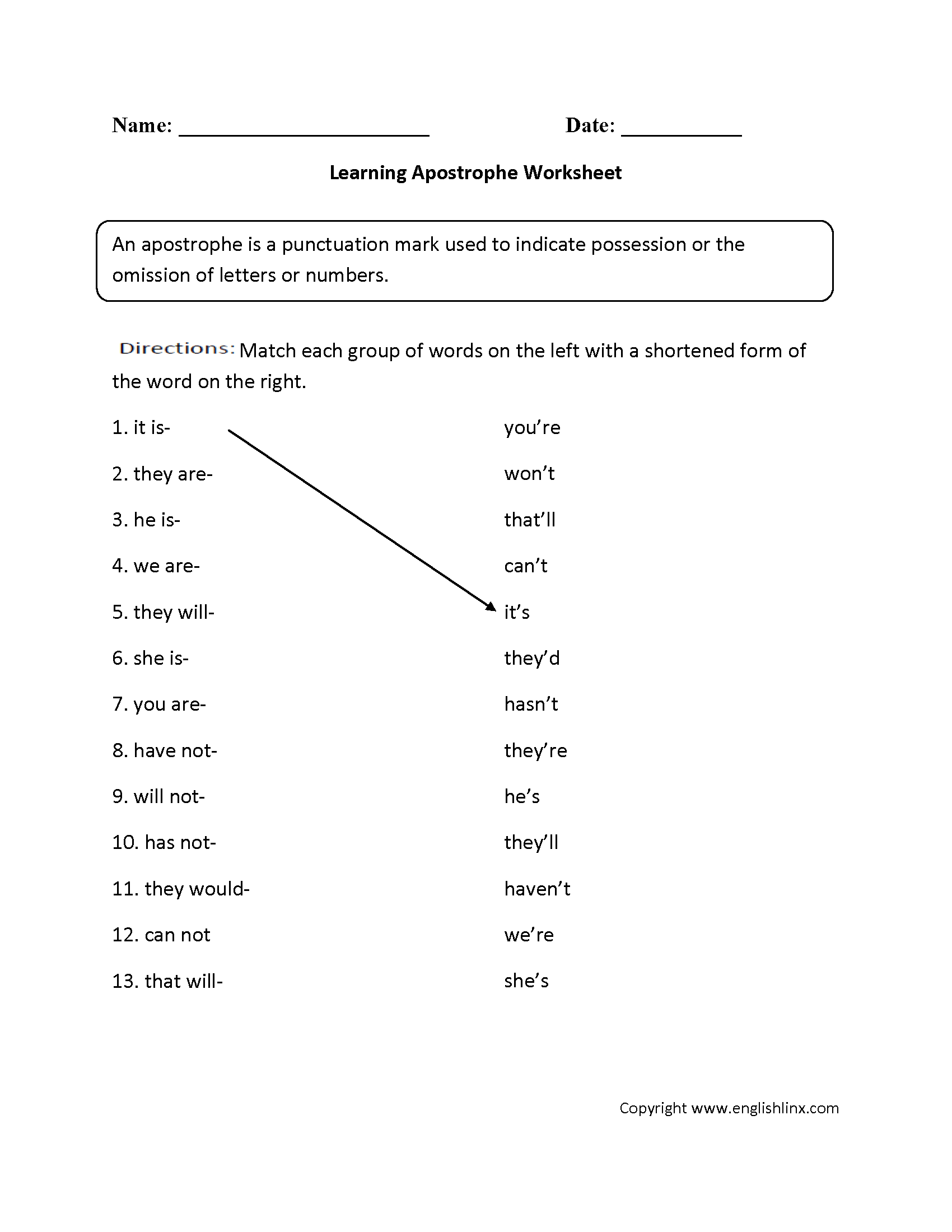 Grammar And Punctuation Worksheets For Adults