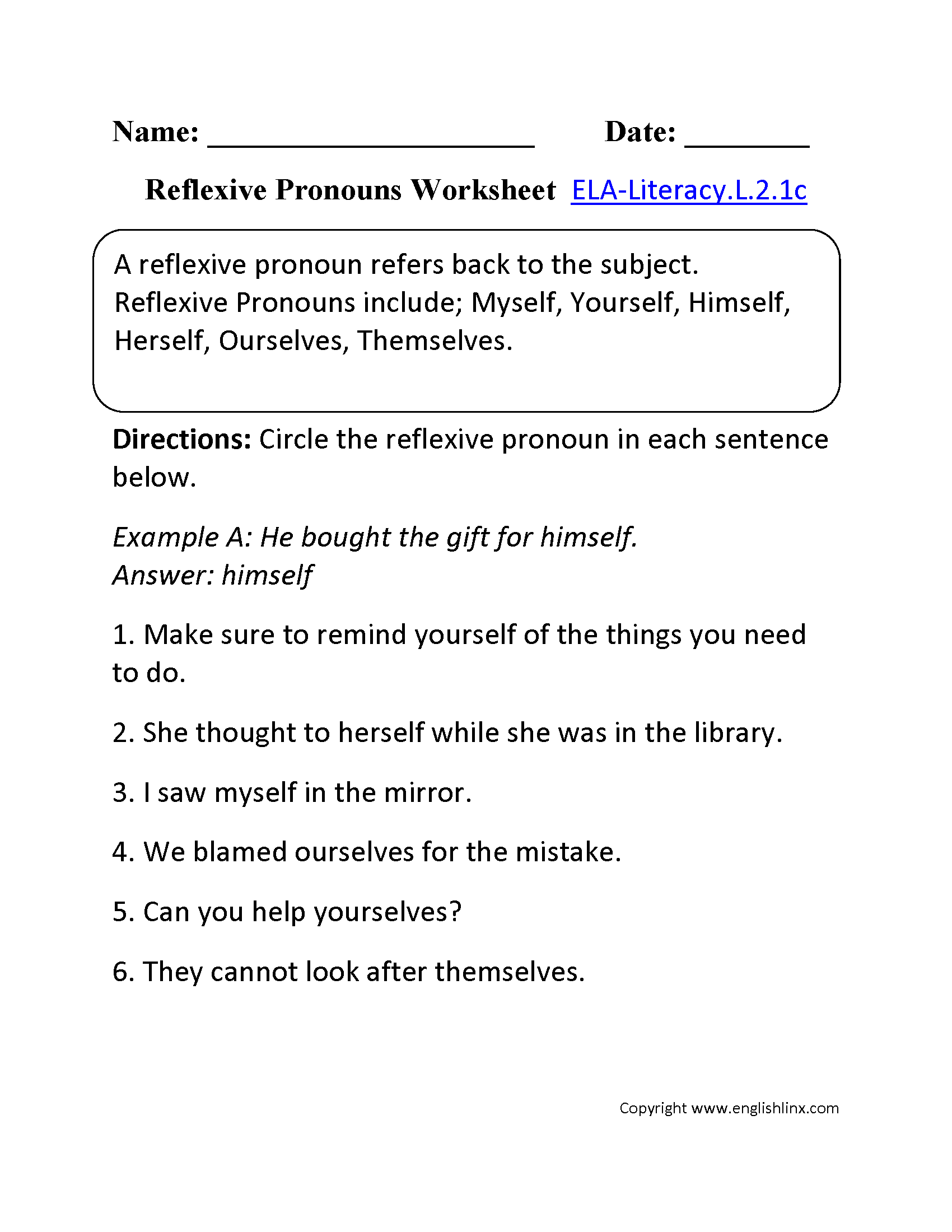 Interrogative Pronouns Worksheet Grade 2