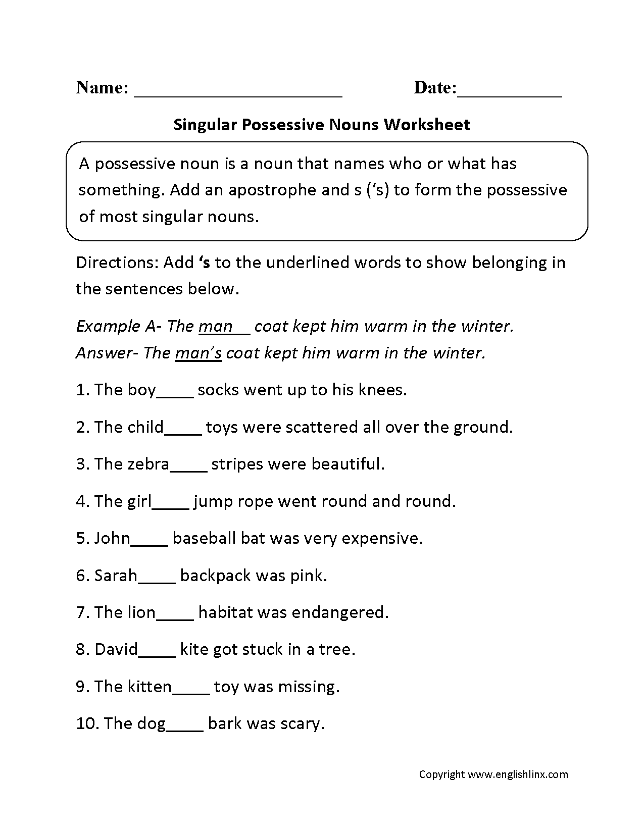 Unique Worksheet Plural Nouns