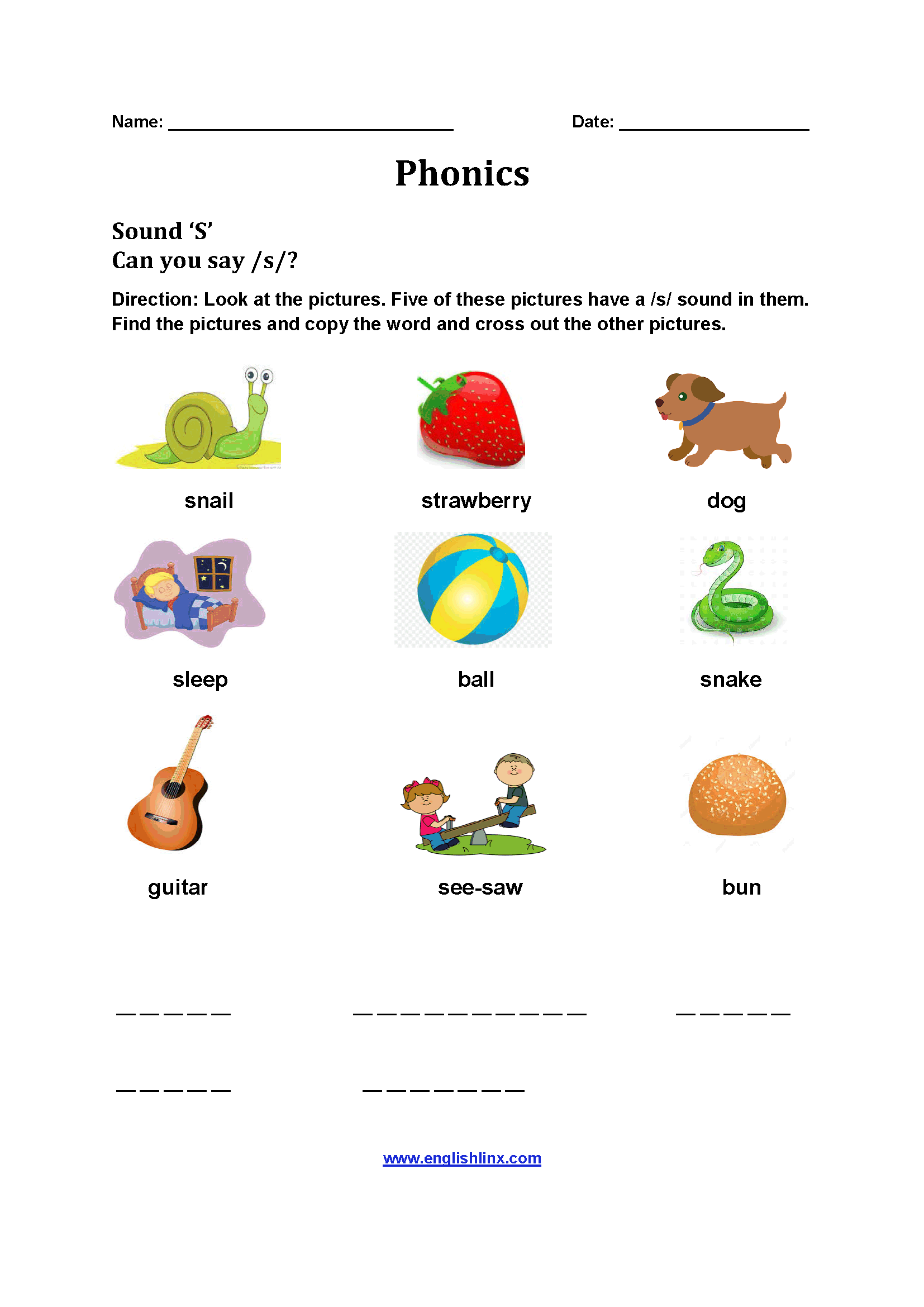 Kindergarten Englishlinx Com Rhyming Worksheets