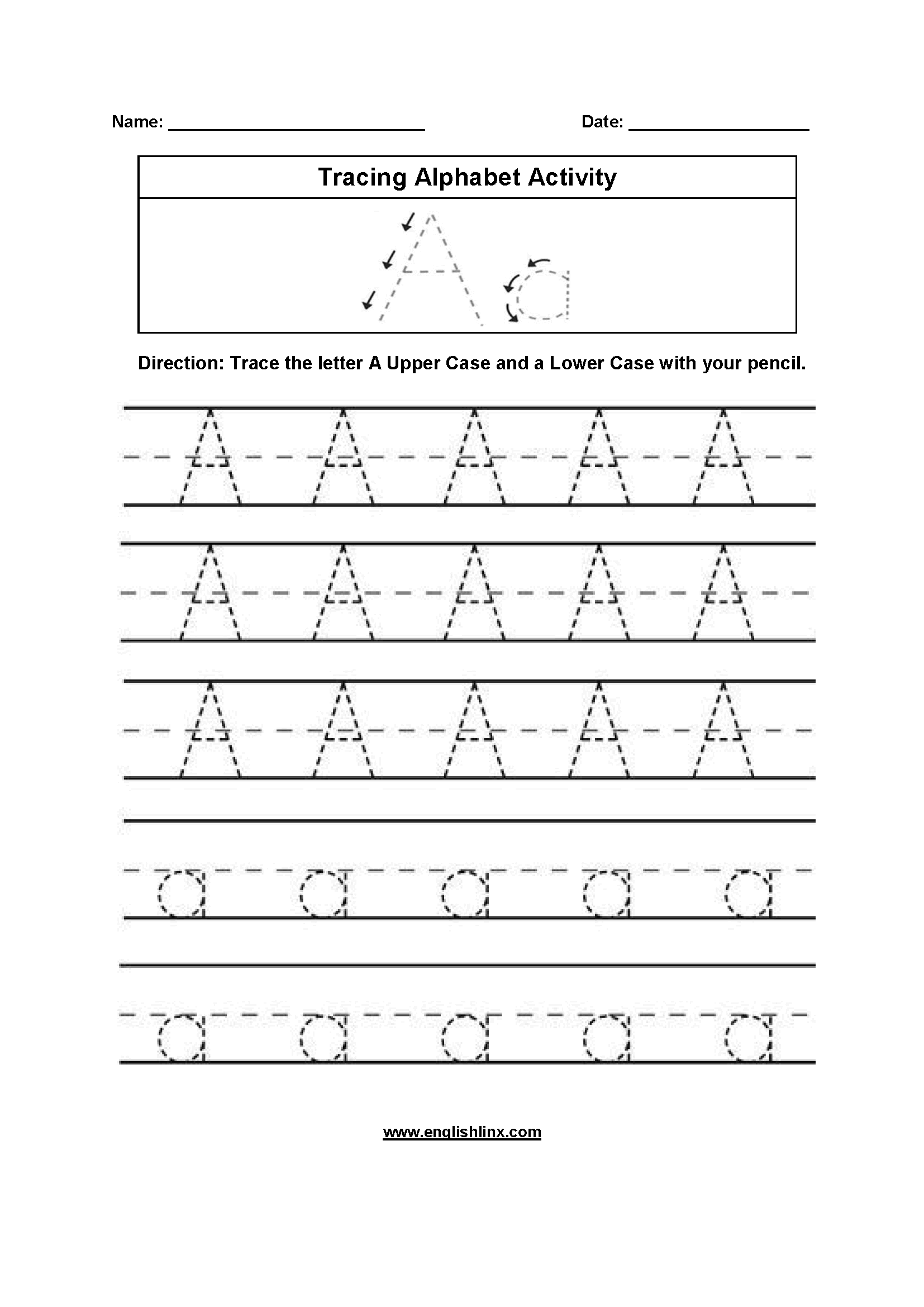 Grade R Alphabet Worksheets