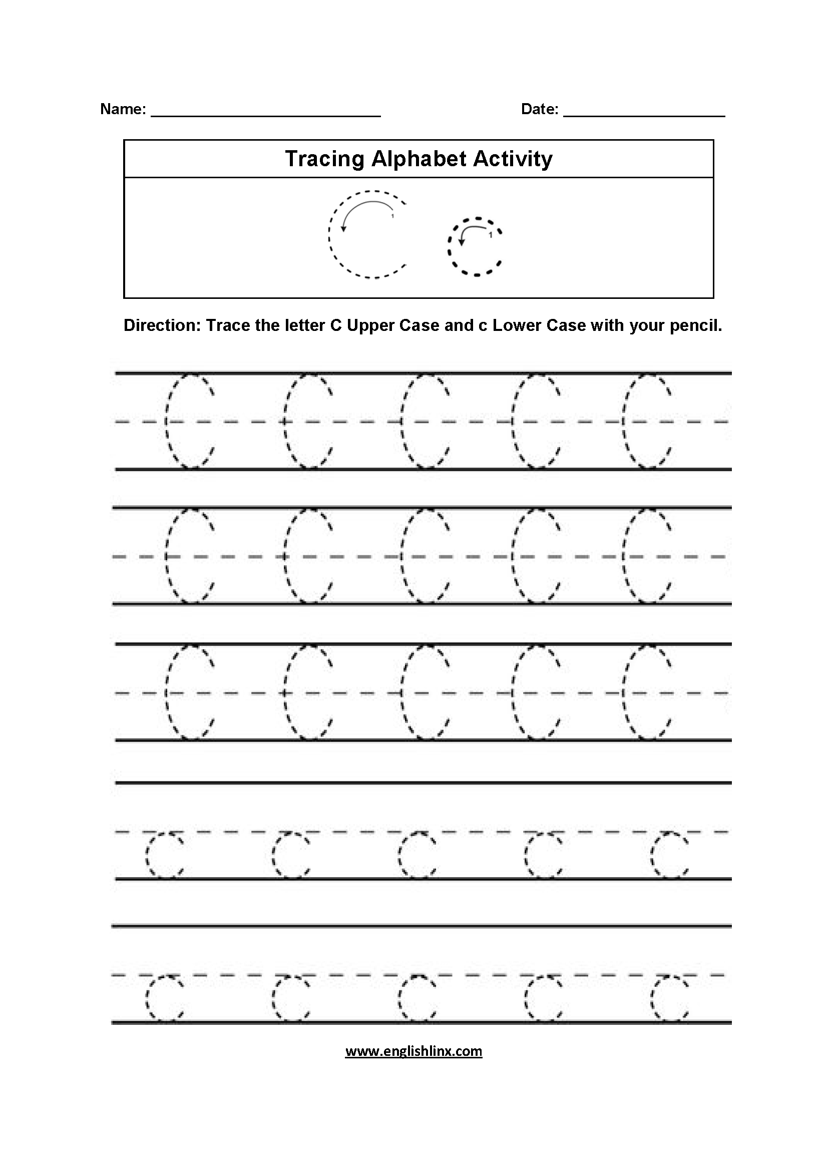 Letter Cc Worksheet