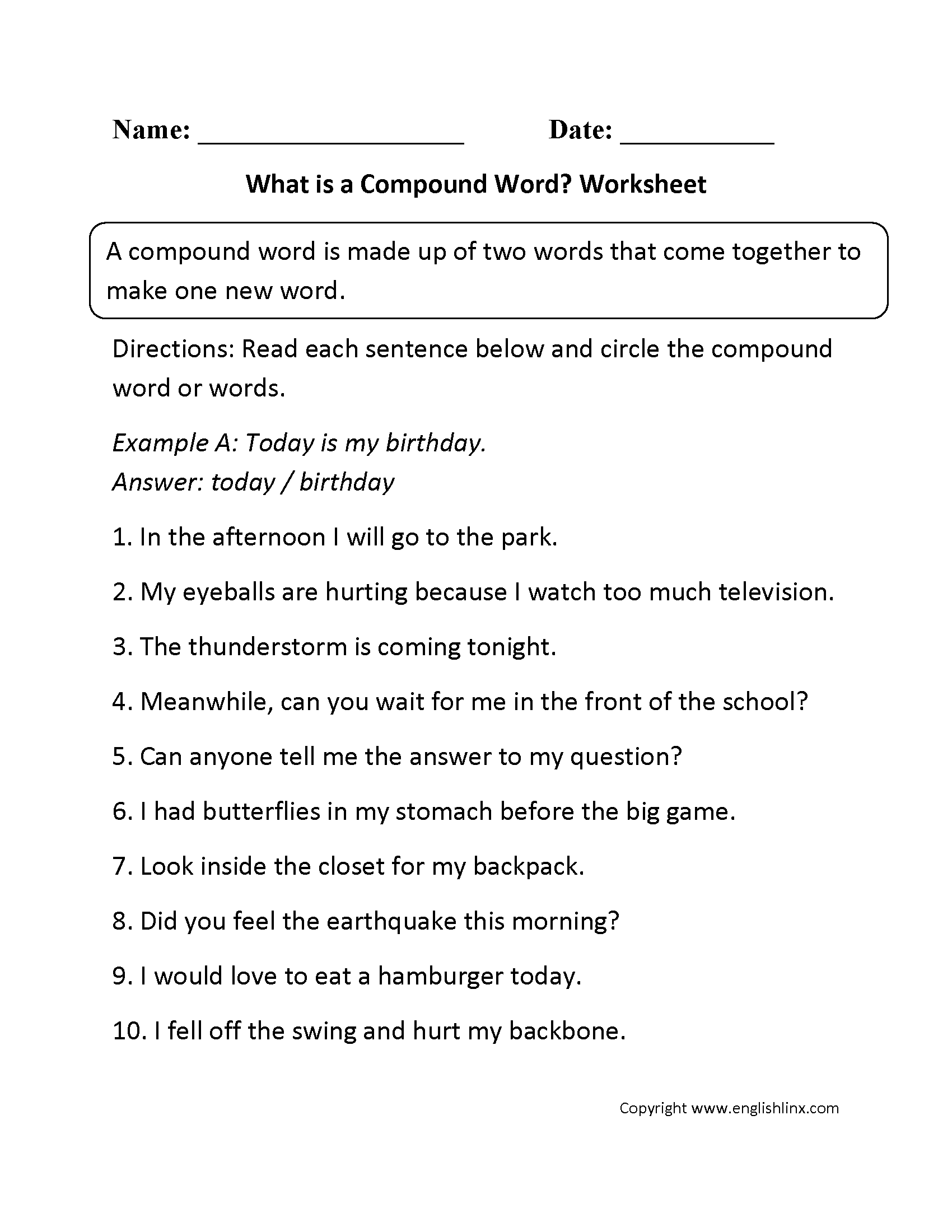 Grammar Mechanics Worksheets