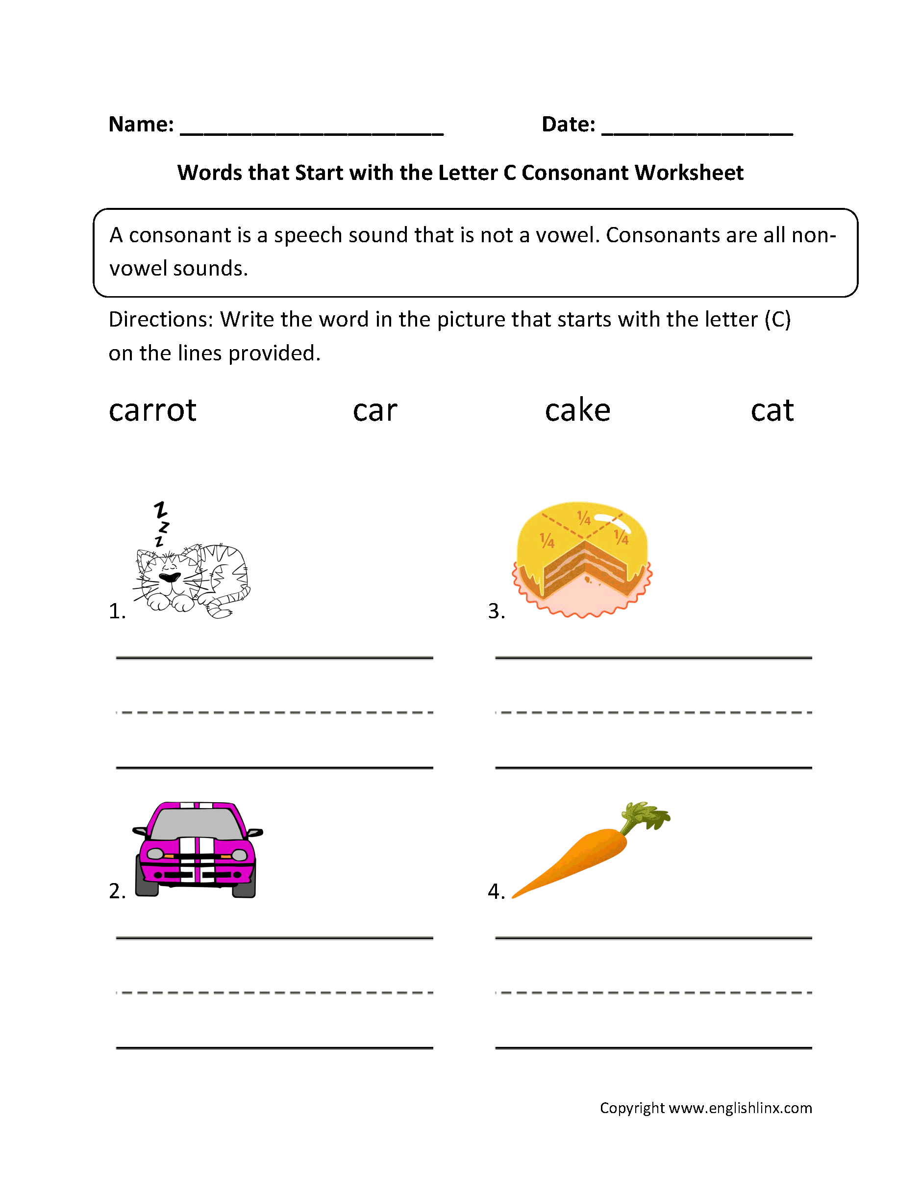 Teach Child How To Read Letter C Phonics Worksheets