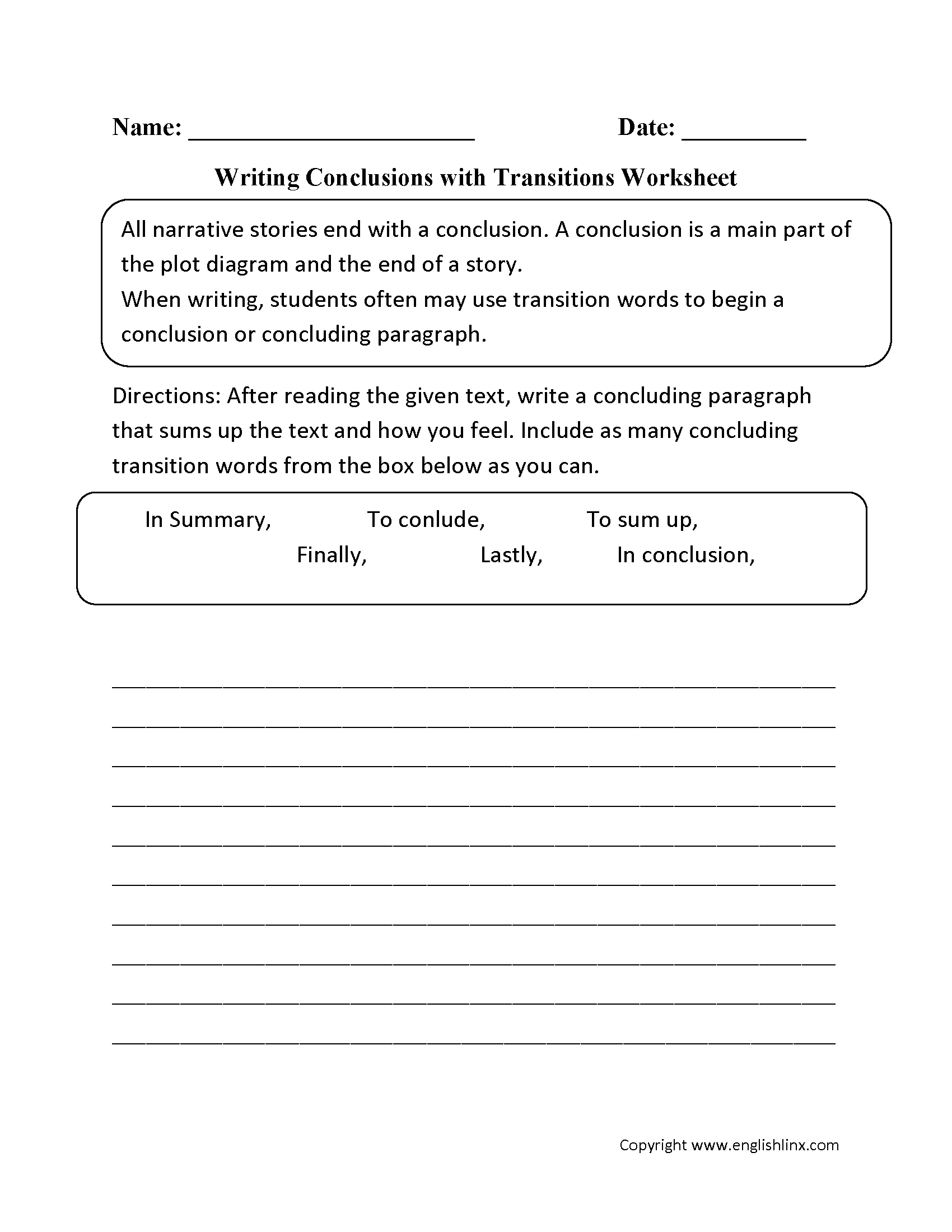 Words To Use For Conclusion Transition Words And Phrases For Essays 01 23