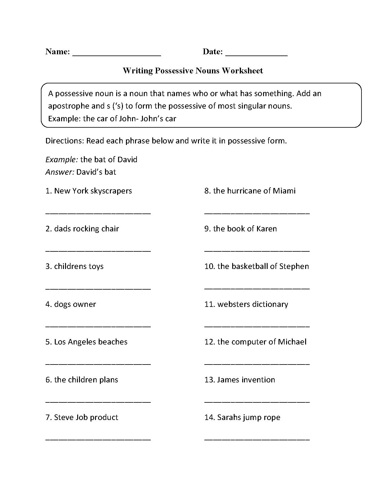 Reading Mastery Worksheet For Grade 1 Answer Key