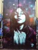 Graffiti on the free wall in Friedrichshain