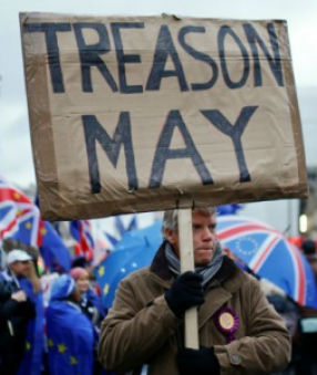 Brexit Protest Treason May Race Brexit