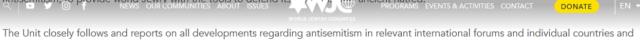 WJC Antisemitism Unit