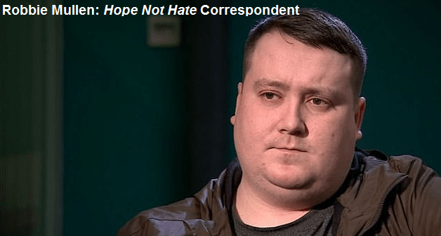 Robbie Mullen National Action Hope Not Hate Correspondent