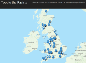 Topple the Racists Map