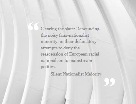 Silent Nationalist Majority Website