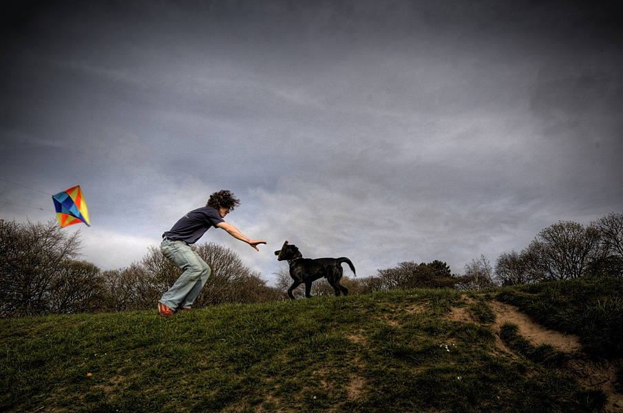 Boy Kite Dog Fine Art Photography English Photographer