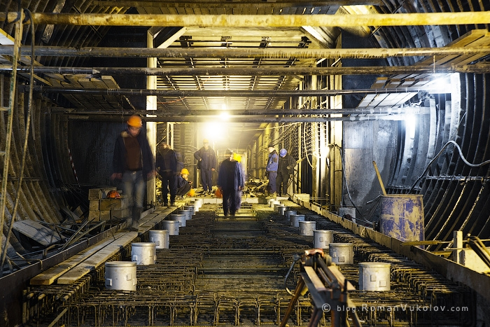 Construction Of The New Moscow Subway Station English Russia