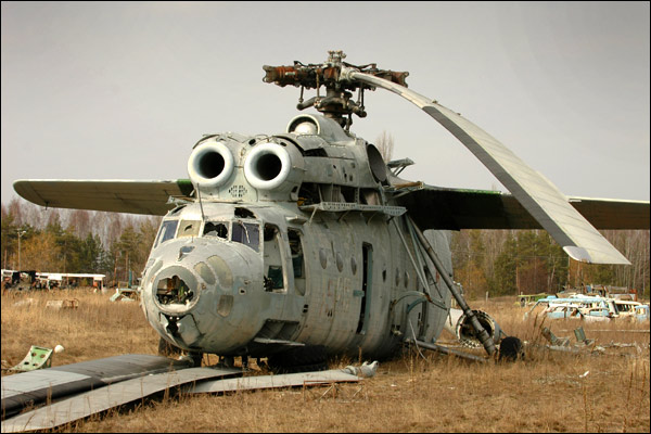 Abandoned Russian army scrap metal 4