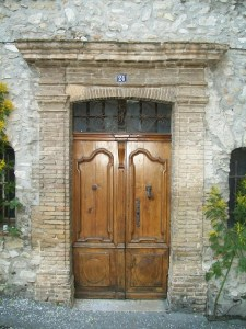 medieval door french village home