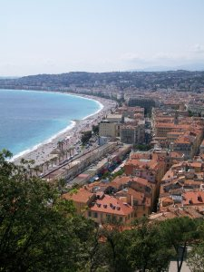 View of Nice French Riviera
