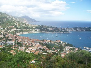 View of Villefranche sur Mer French Riviera