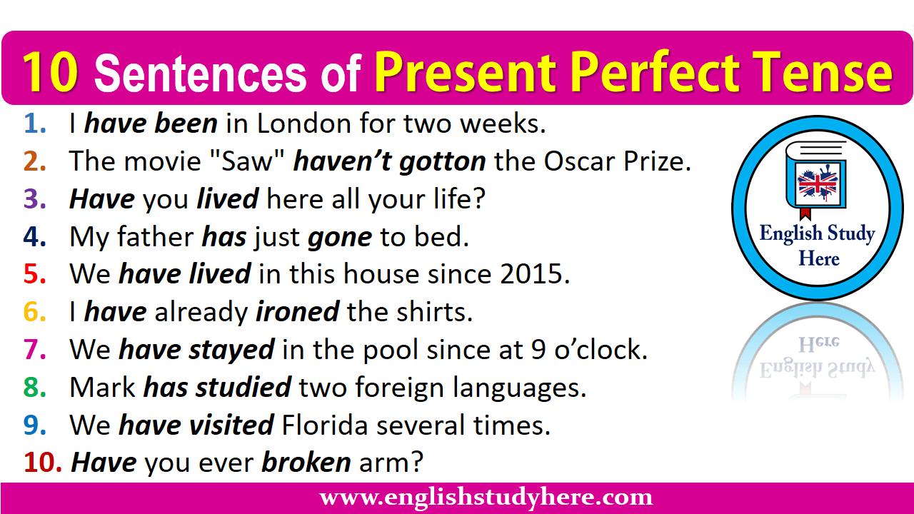 Tense Perfect Continuous Exercises Present