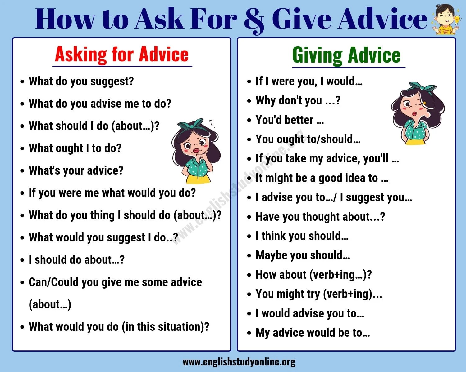 Simple Ways To Ask For Amp Give Advice In English
