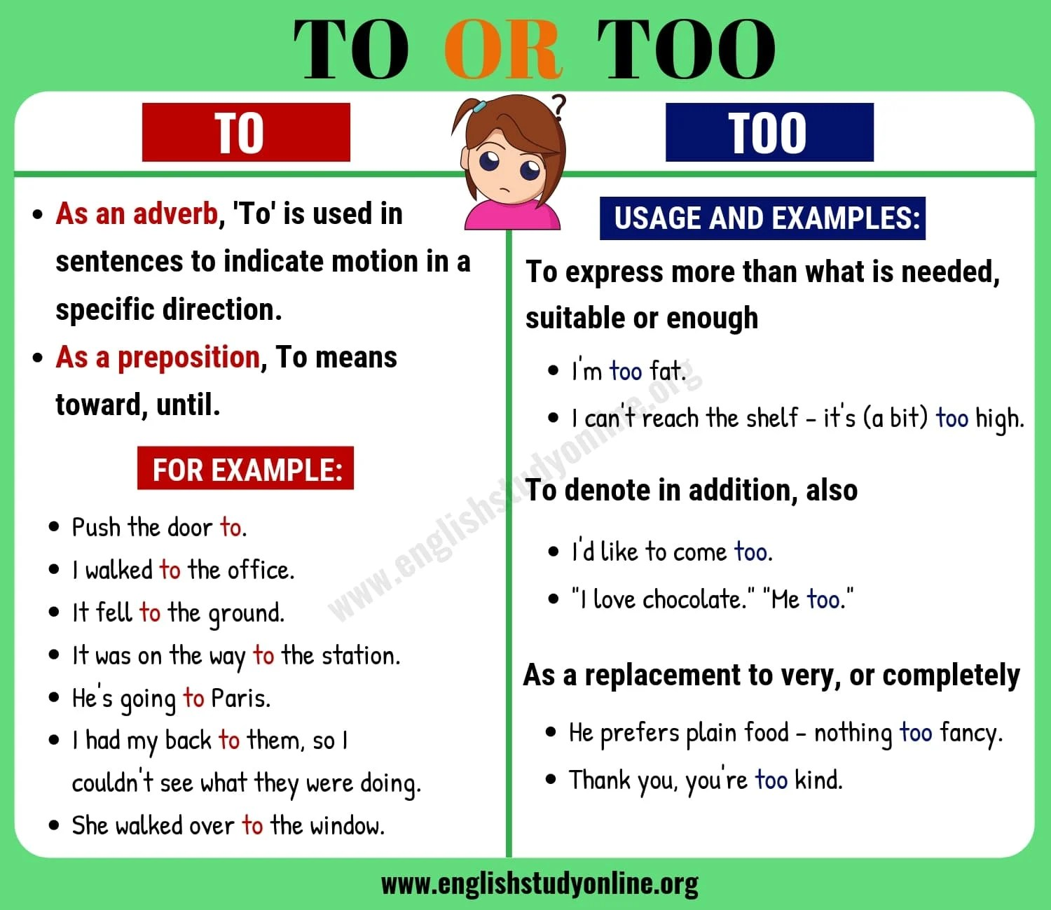 To Vs Too What Is The Difference Between To And Too