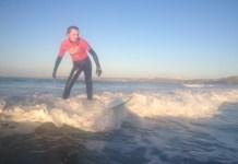 Winter Sun Surfing