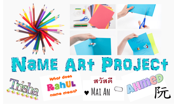 Name Art Project to Spice Up Self-Introduction Activity | English ...