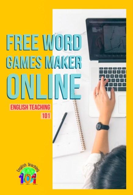 Free word games maker online