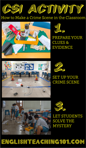 CSI Activity - How to set up a crime scene in the classroom!
