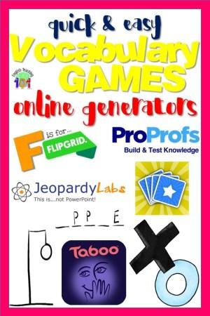 Online Vocabulary Games Generator #VocabularyGames #OnlineTools #Edtech