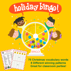 holiday BINGO party game