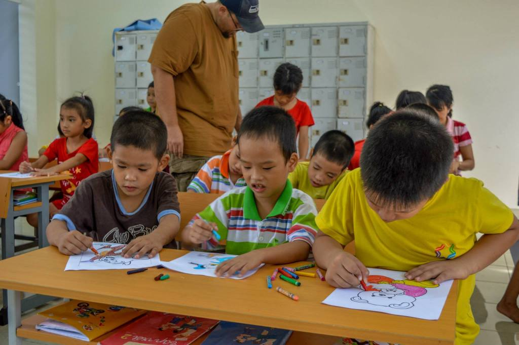 volunteering at an orphanage in Vietnam