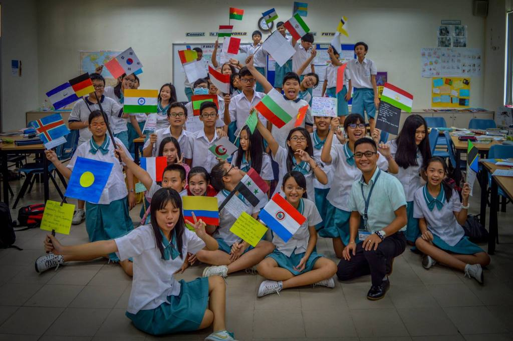 Asian students language exchange program