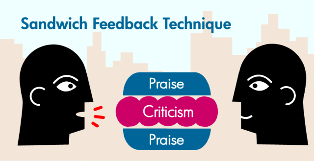 feedback sandwich - how to share negative feedback with parents