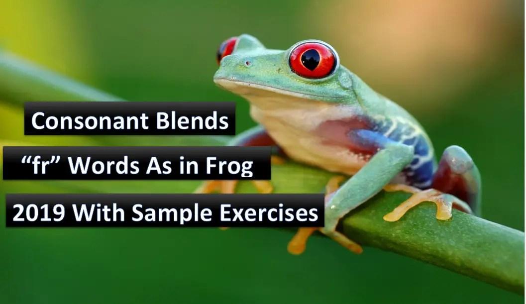 consonant Blends fr words as in Frog
