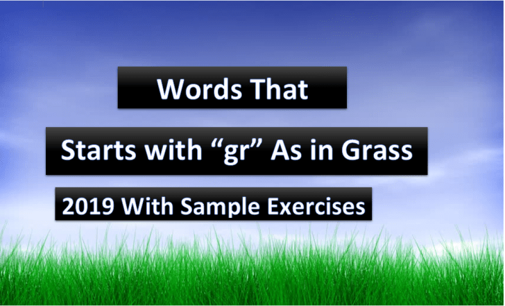 words that starts with gr