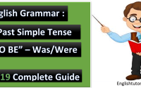 Past Simple Tense 'TO BE'- Was/Were