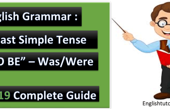 English Grammar Past Simple Tense To be was were