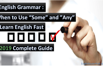 When to use Some and Any- English Grammar Lesson