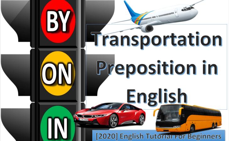 Transportation preposition in english