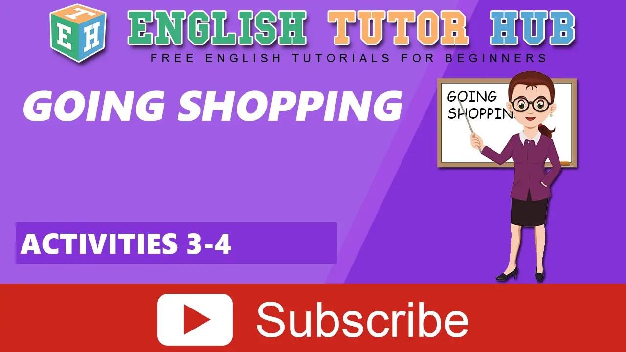 Going Shopping In English