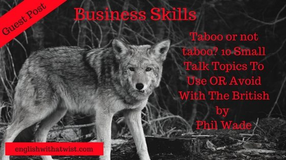 Business Skills: Taboo or not taboo? 10 Small Talk Topics To Use OR Avoid With The British (Guest Post)