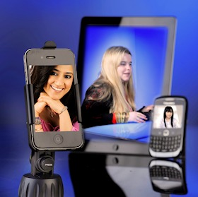 iPhone, iPad and Blackberry devices used for online learning