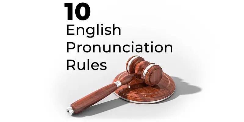 english pronunciation rules