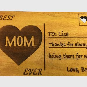 Personalized Mother's Day Gift - Mother's Day Postcard - Wooden Mother's Day Gift