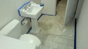One coat of Sea Foam - laundry room.