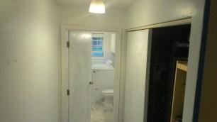 One coat of Sea Foam - hallway.