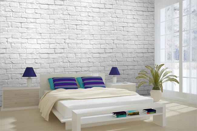 Brick Effect Wallpaper Bedroom Ideas